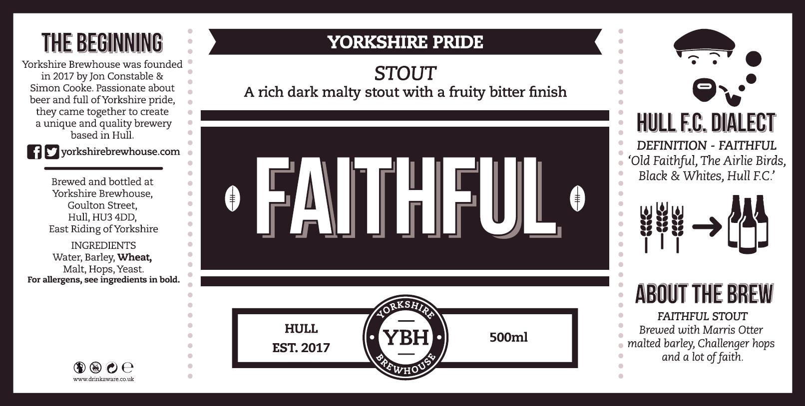 Yorkshire Brewhouse - FAITHFUL Stout